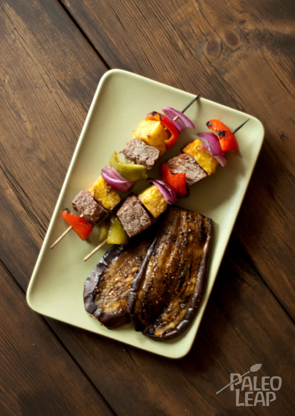 Grilled Beef Kabobs With Eggplant