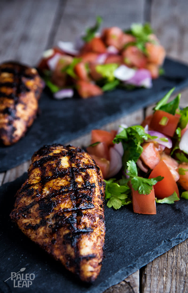 Grilled Mexican-Style Chicken With Chunky Pico de Gallo