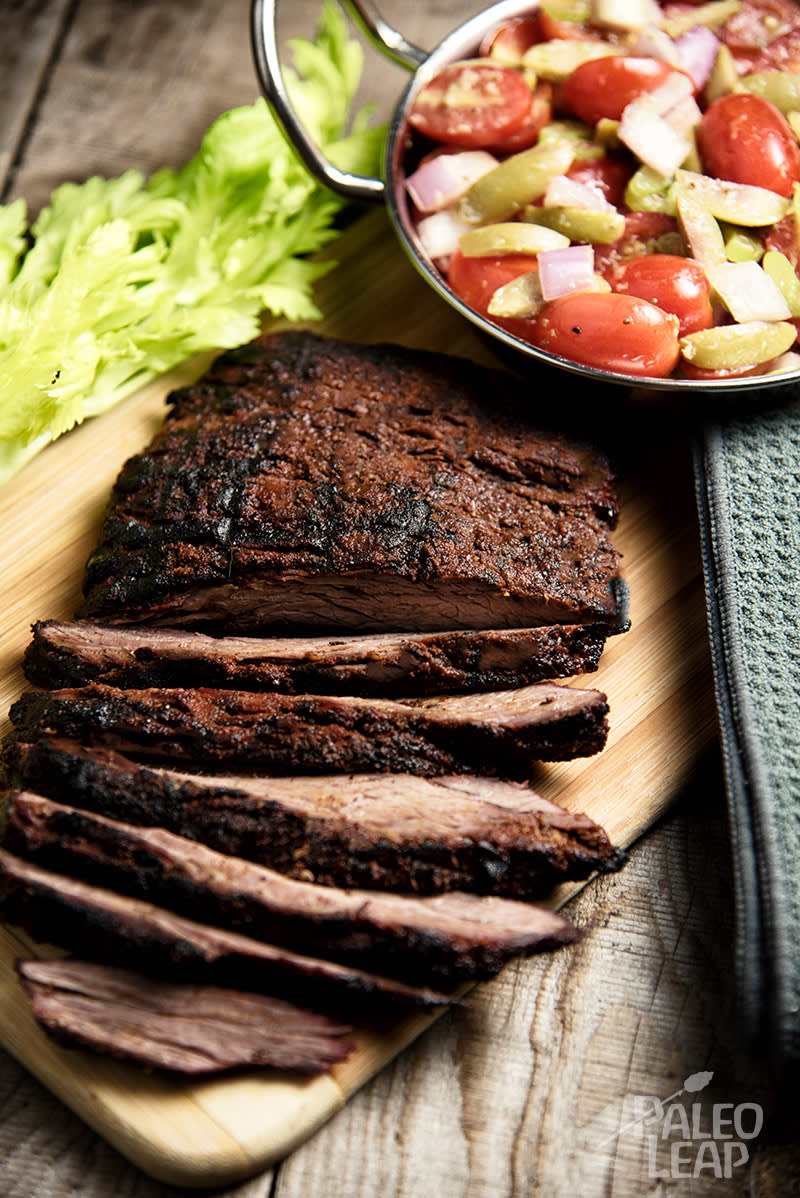 Flank Steak With Cherry Tomato Salad