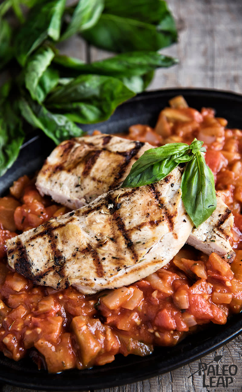 Chicken With Tomato-Eggplant Sauce