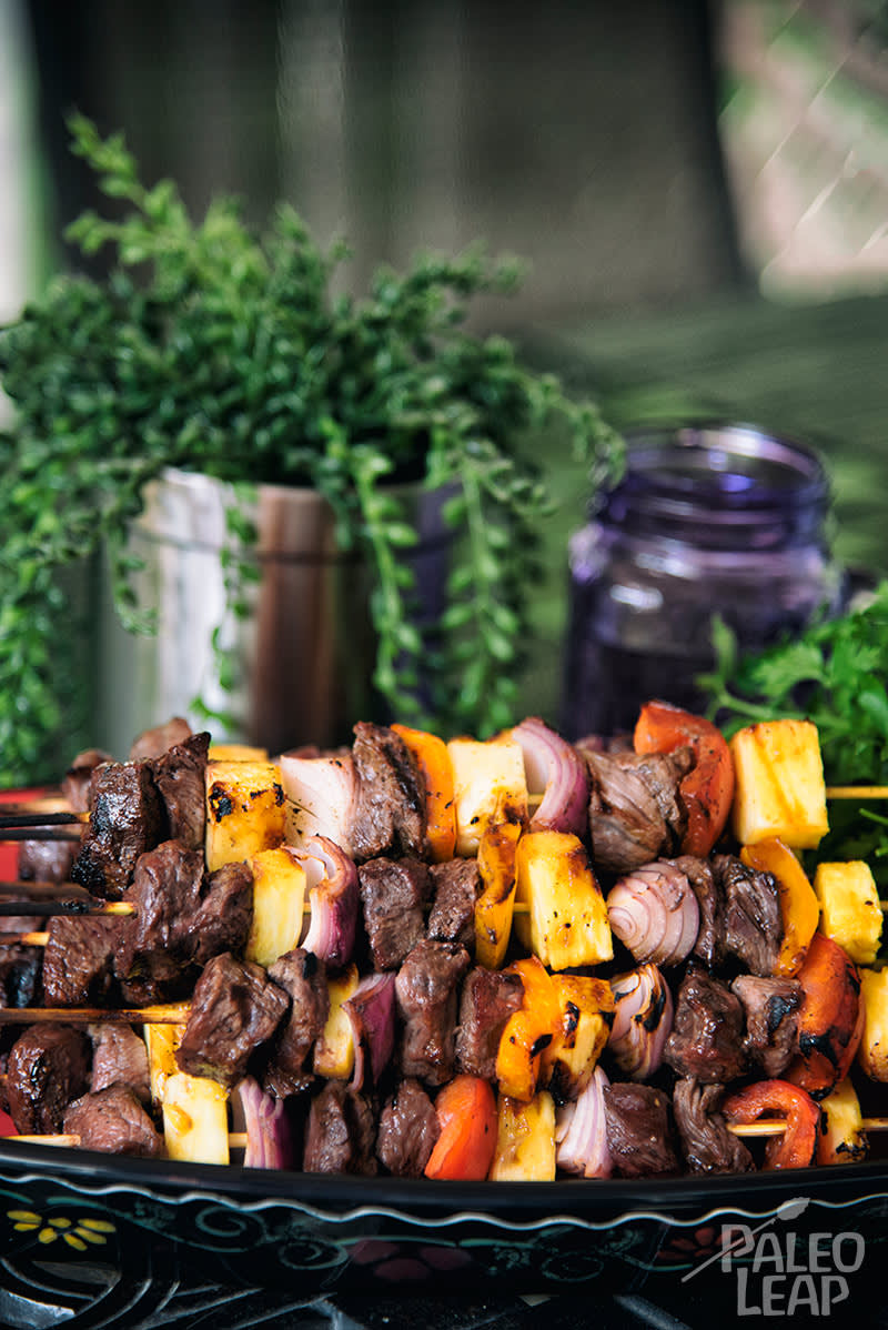 Grilled Steak And Pineapple Skewers