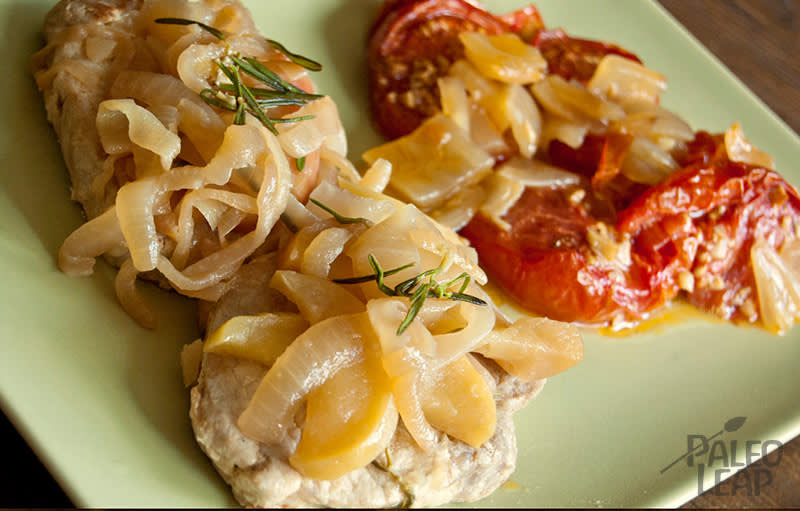 Pork Chops With Applesauce And Roasted Tomatoes