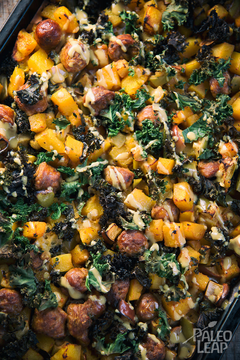 Roasted Squash And Sausage