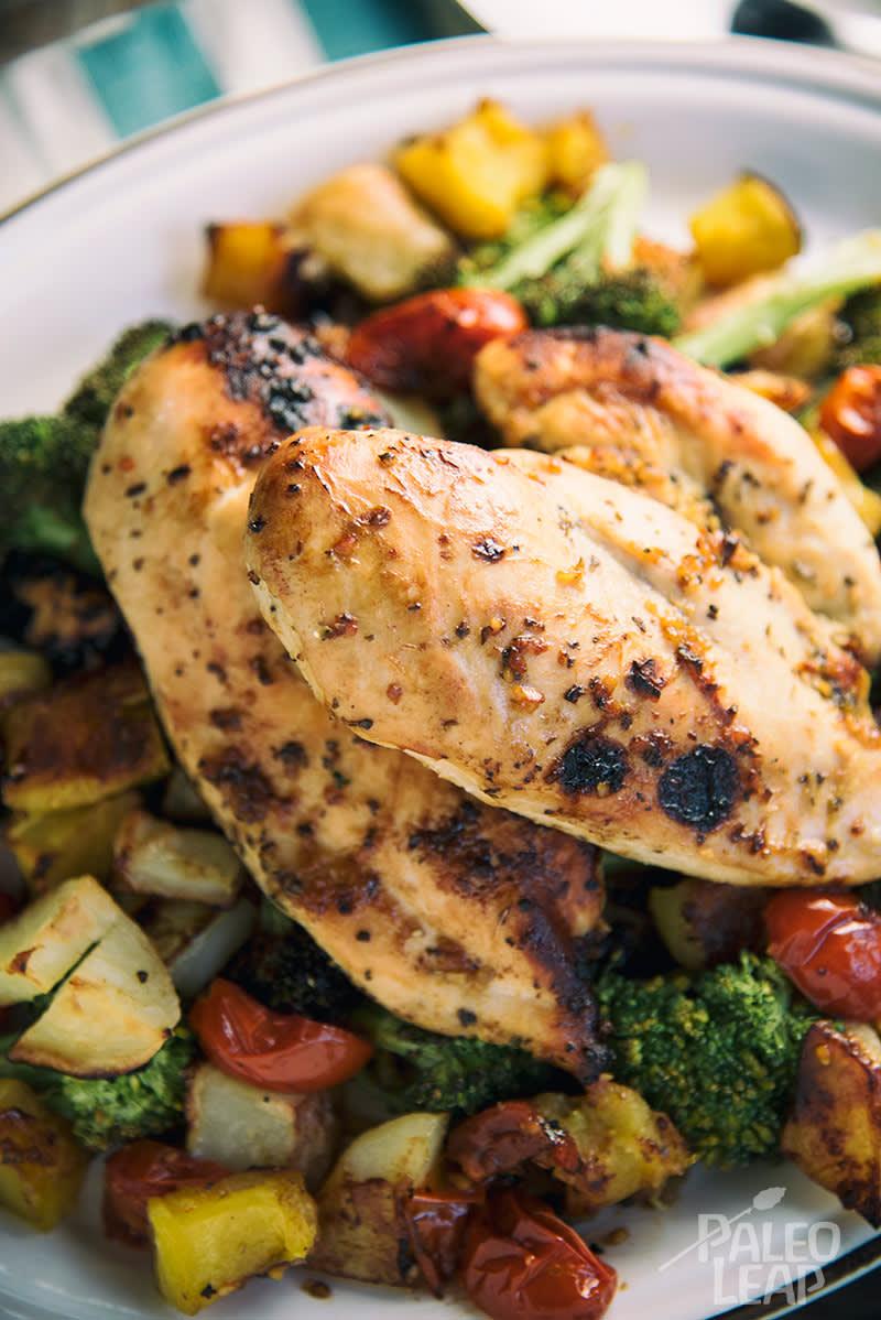 Honey Garlic Chicken And Vegetables