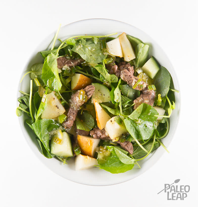 Beef, Watercress And Pear Salad
