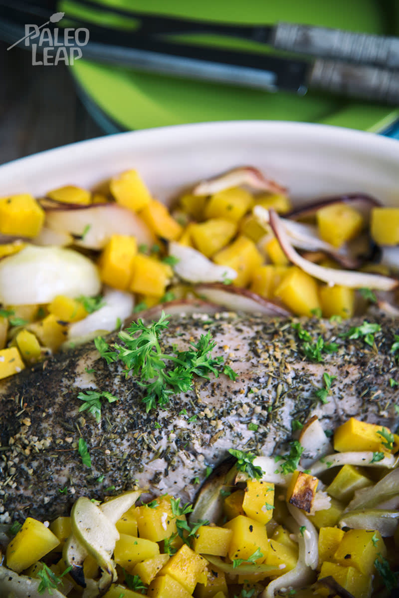 Roasted Pork With Squash And Apples