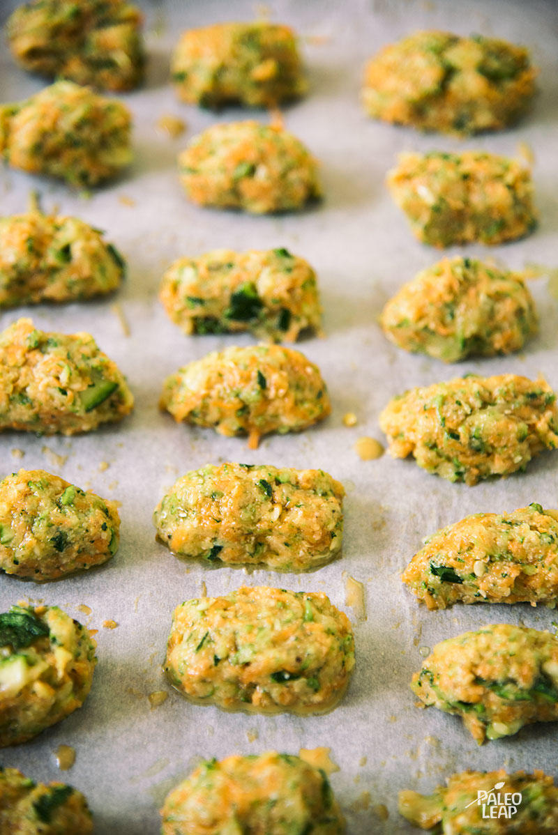 Zucchini Tots preparation