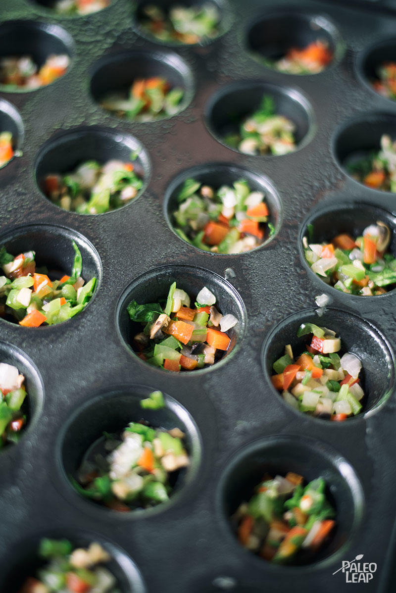 Egg And Vegetable Muffin Cups preparation