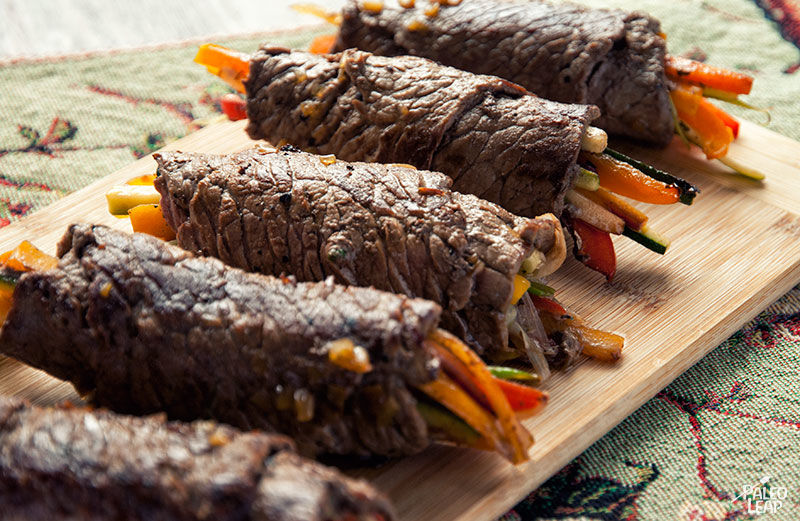 Balsamic Steak Rolls | 13 High Protein Low Carb Snacks to Keep You Fit This New Year