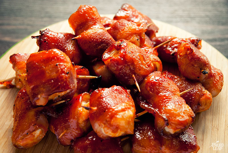 BBQ Chicken and Bacon Bites | Paleo Leap
