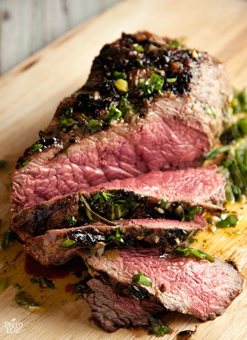 Beef Sirloin With Fresh Herbs Marinade