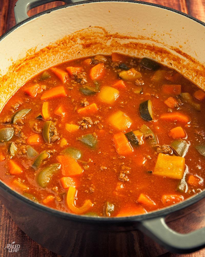 Beef Chili preparation