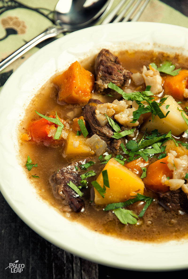 Beef and Winter Vegetable Soup | Paleo Leap