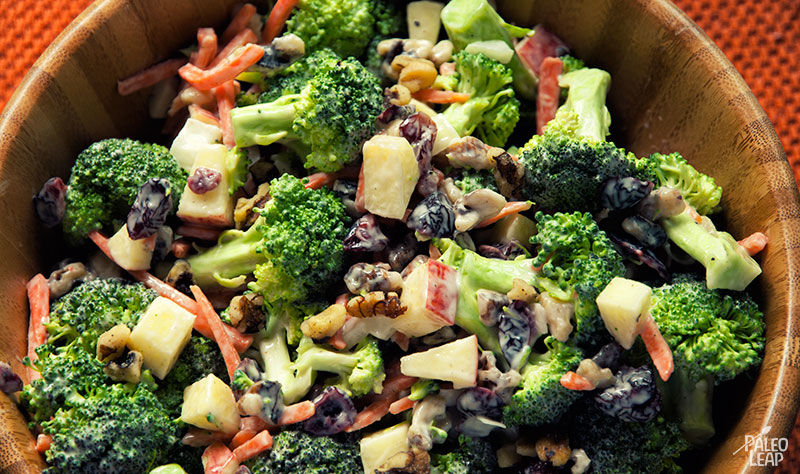Broccoli and Apple Salad with Walnuts