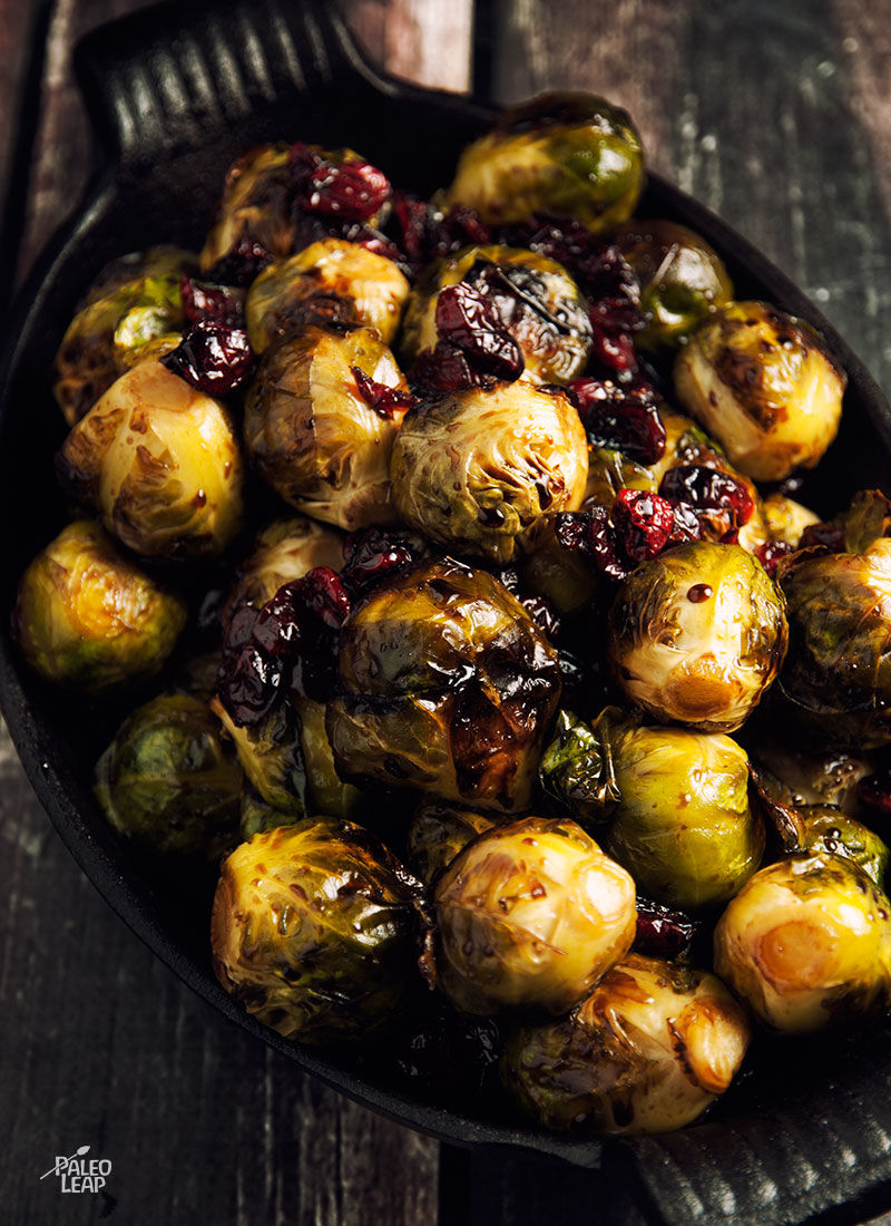Brussels Sprouts With Balsamic And Cranberries Paleo Leap