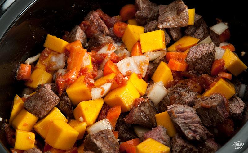 Beef stew preparation