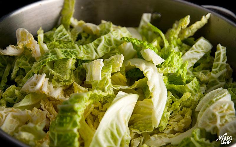 Cabbage soup preparation