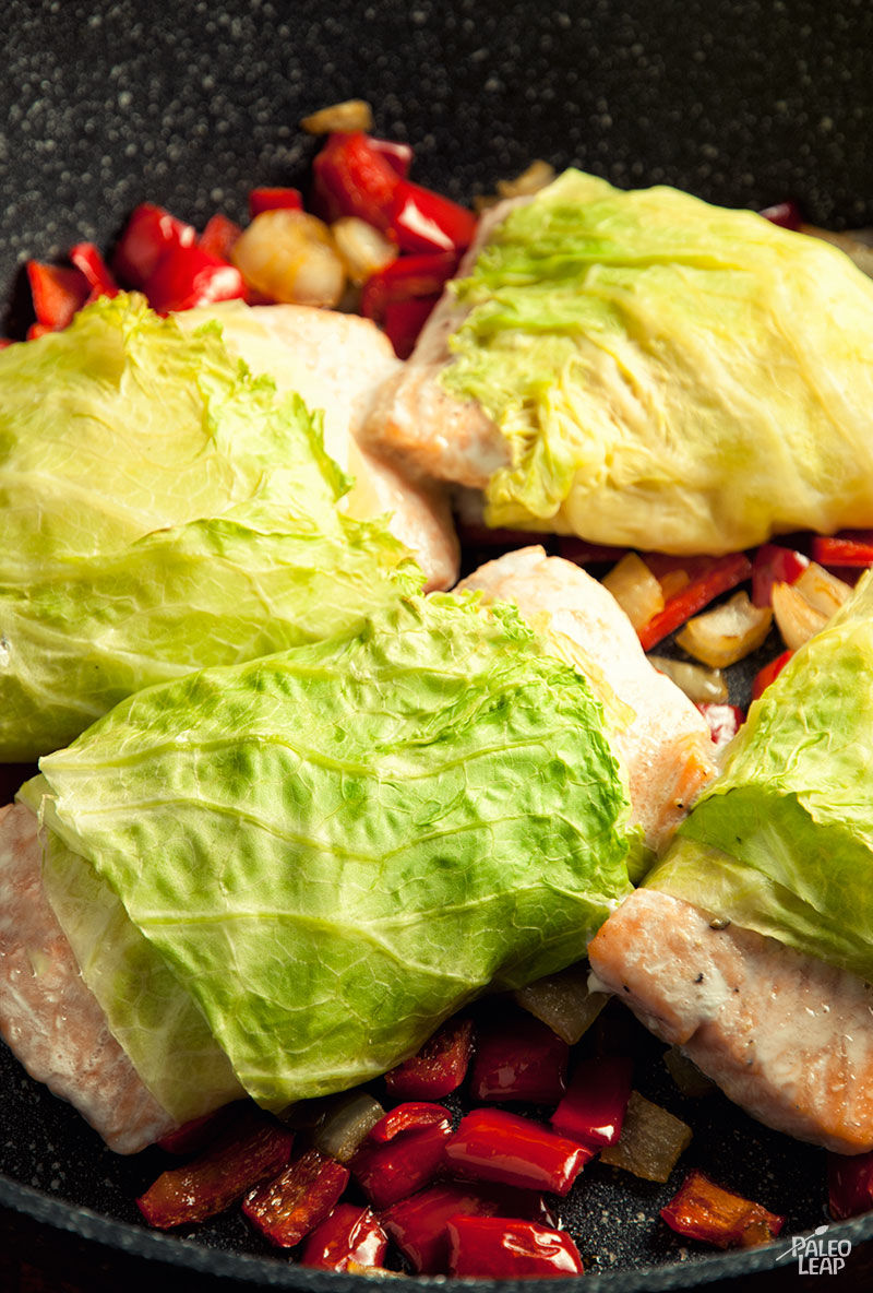 Cabbage-Wrapped Salmon