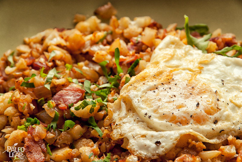 Cauliflower and bacon Hash