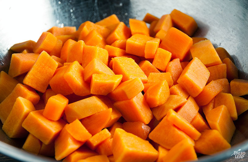 Sweet Potato Salad preparation