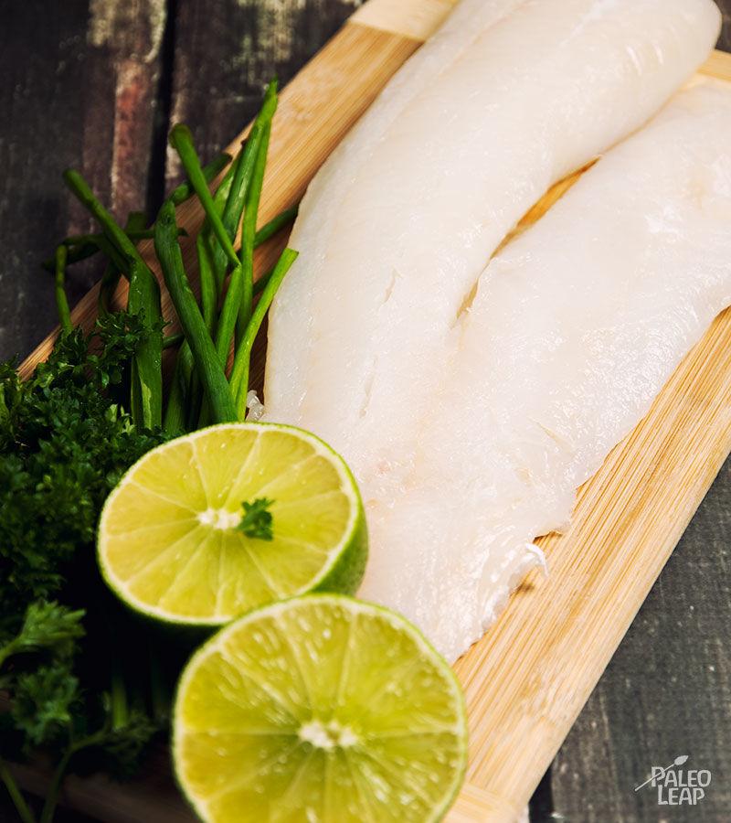 Seared cod preparation