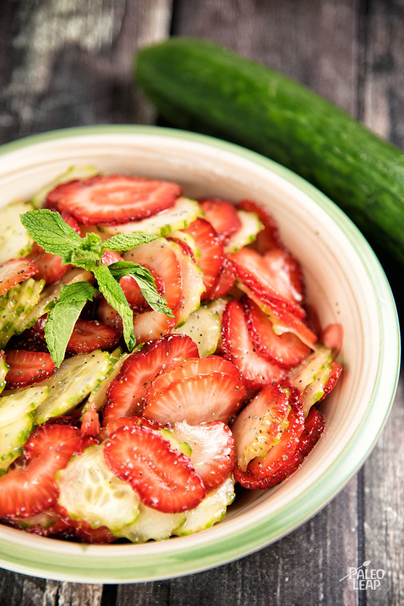 Cucumber And Strawberry Salad