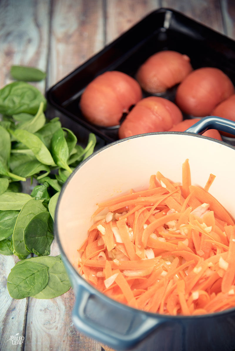 Tomato Florentine Soup preparation