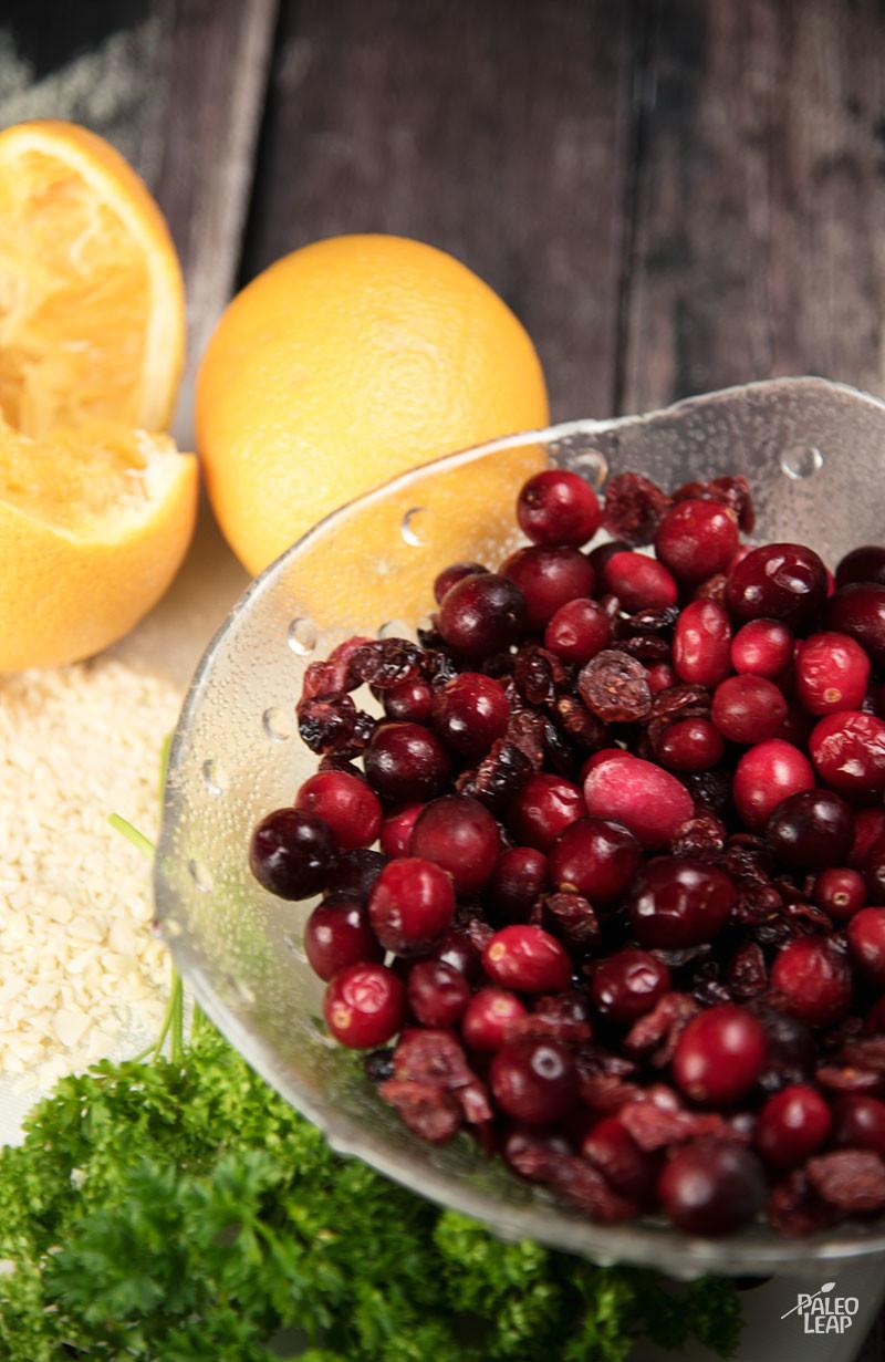 Orange And Cranberry Relish preparation