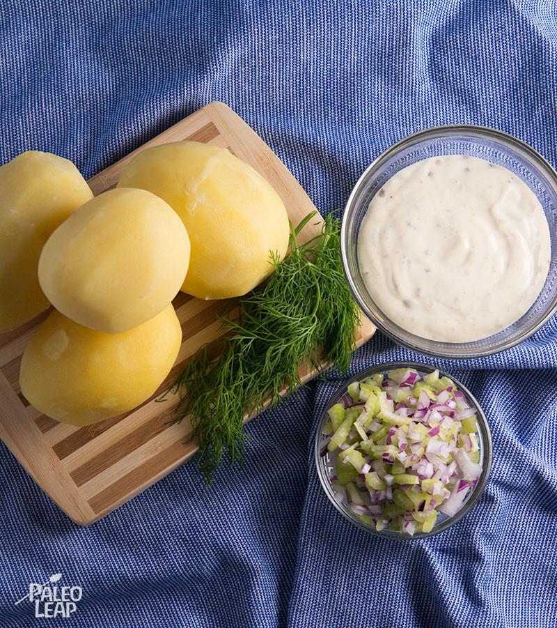 Potato salad preparation
