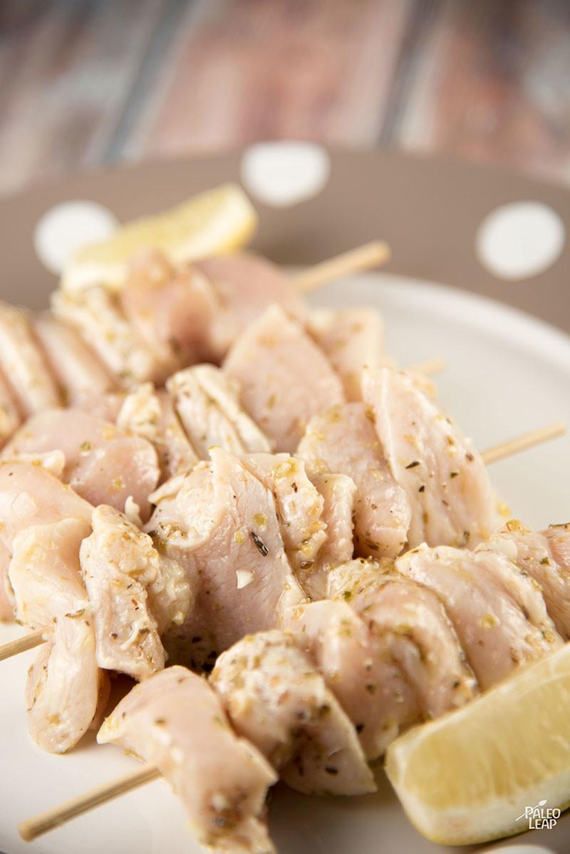 Chicken Souvlaki preparation