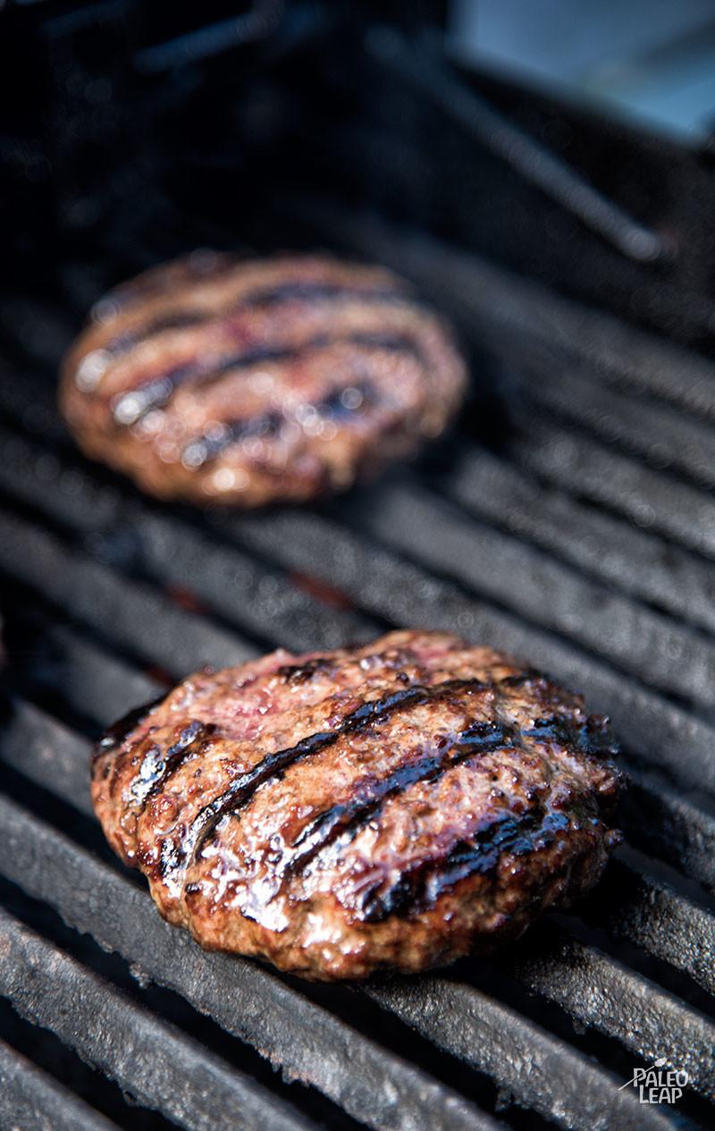 All American Burger preparation