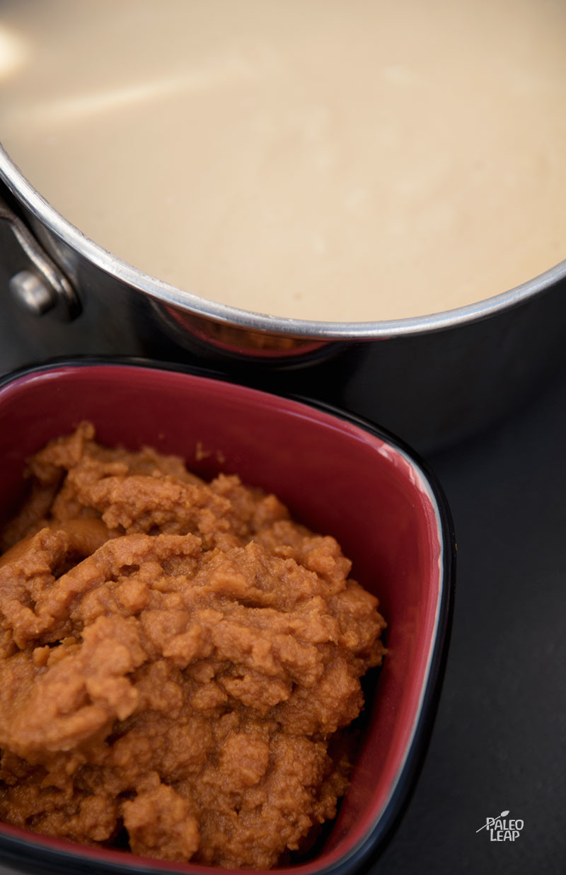 Pumpkin Pie Pudding preparation
