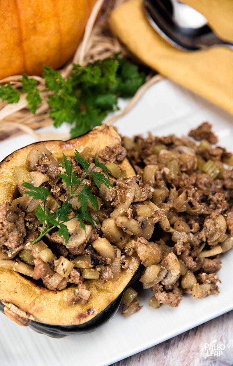 Sausage and Apple-Stuffed Squash