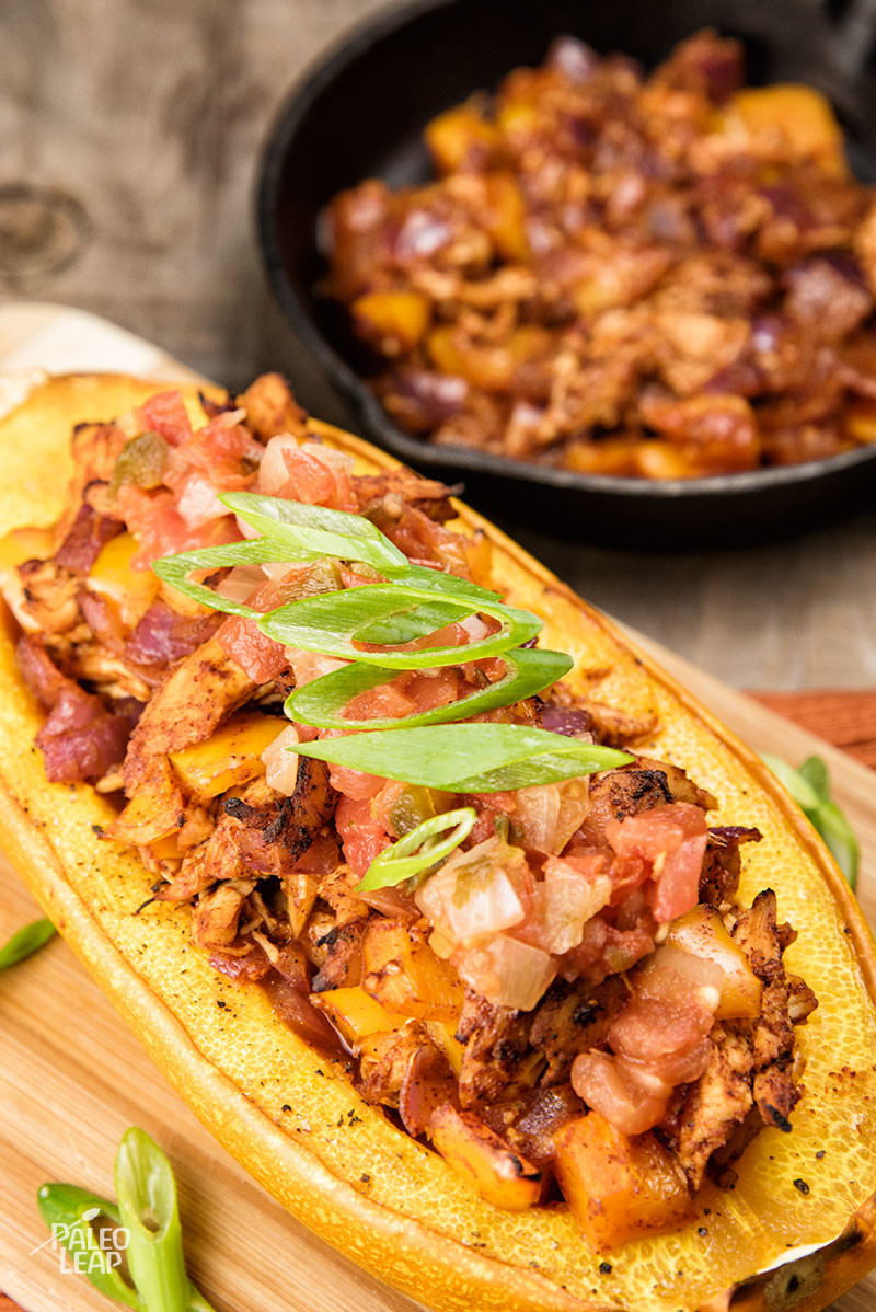 Chicken Enchilada Stuffed Squash