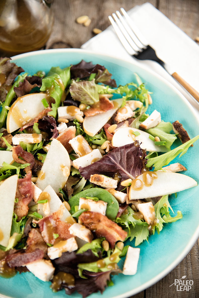 Pear, Bacon, Chicken Salad