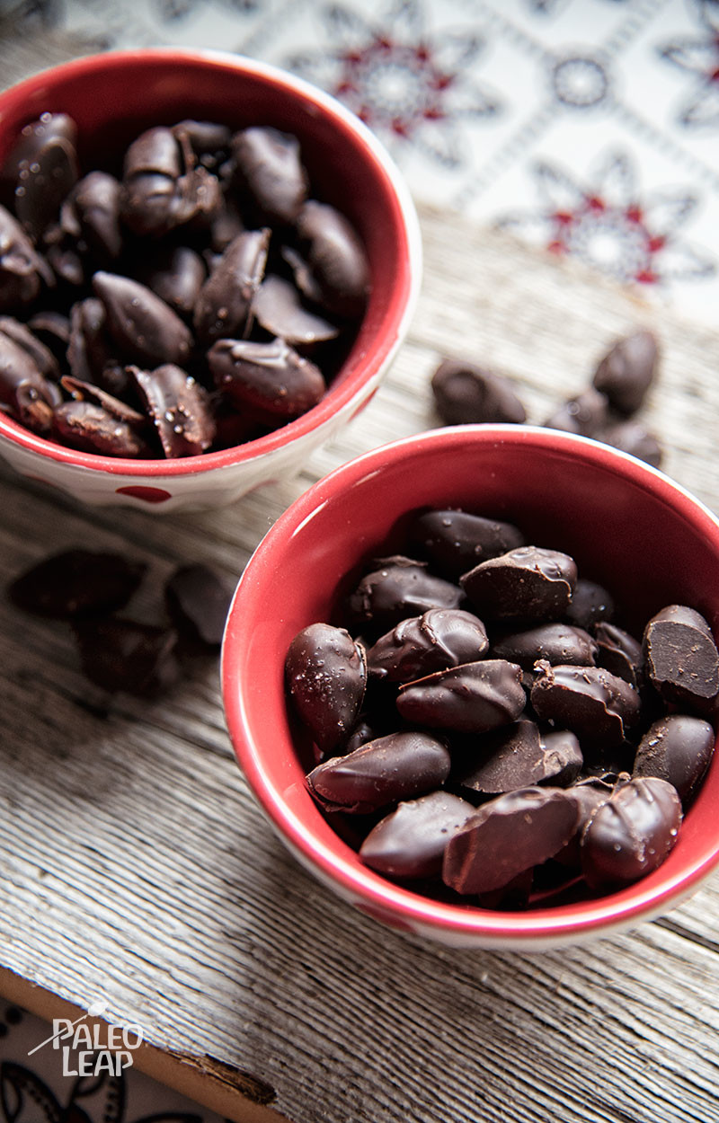 Dark Chocolate Covered Almonds Paleo Leap