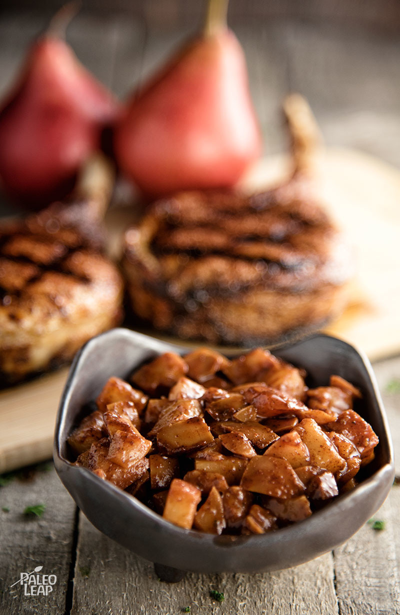 Pork Chops and Chutney preparation