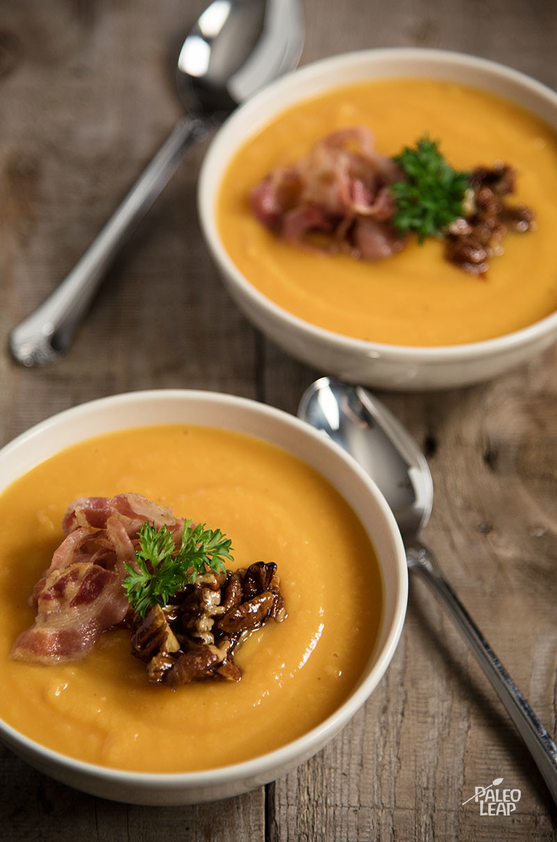 Sweet Potato And Onion Soup preparation