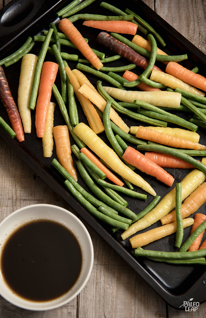 Balsamic Roasted Carrots And Green Beans Paleo Leap