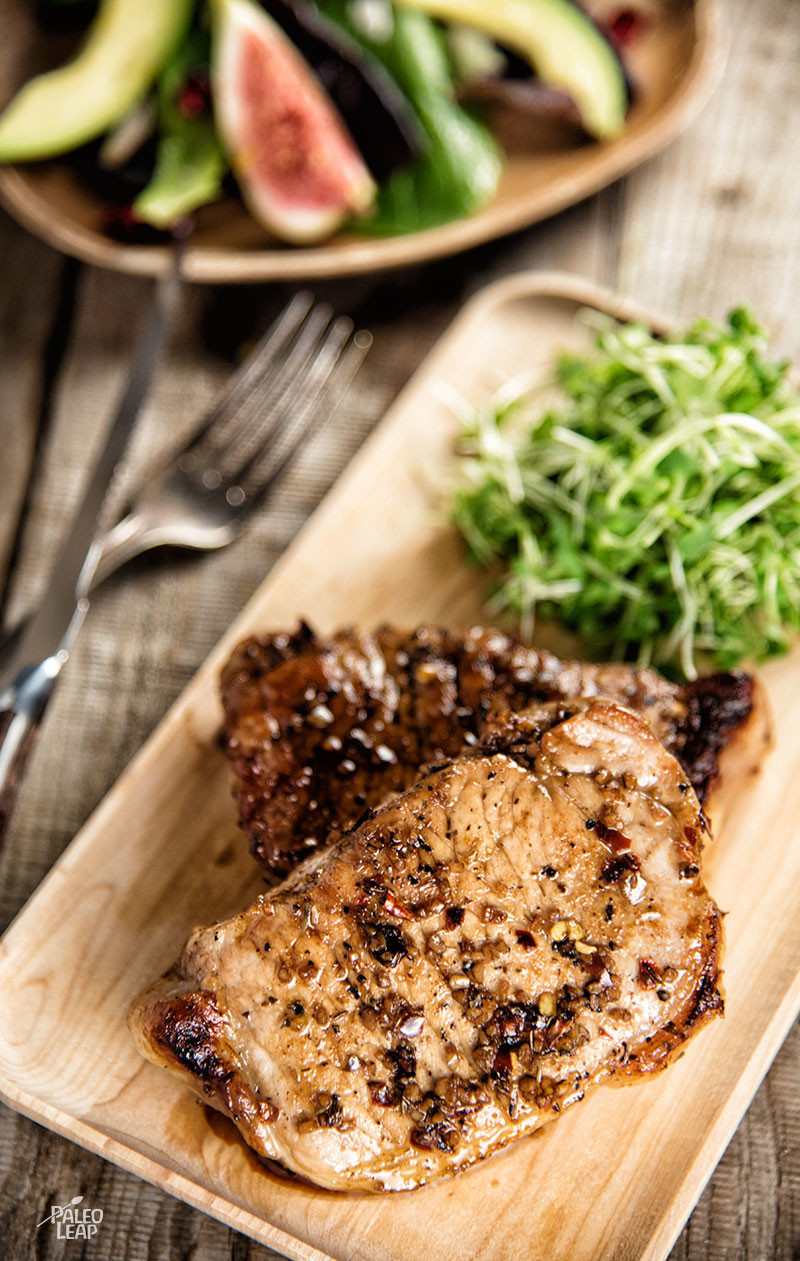 Pork chops With Balsamic Glaze