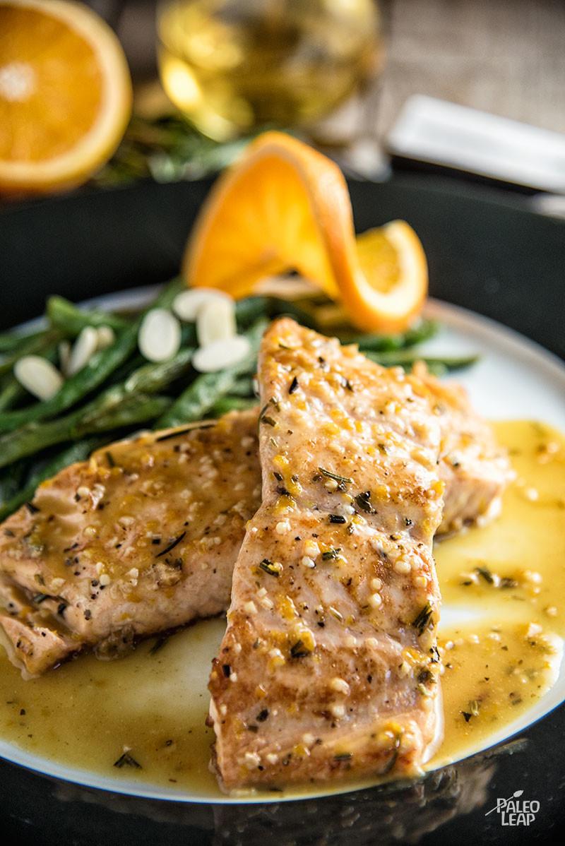 Orange-Rosemary Seared Salmon