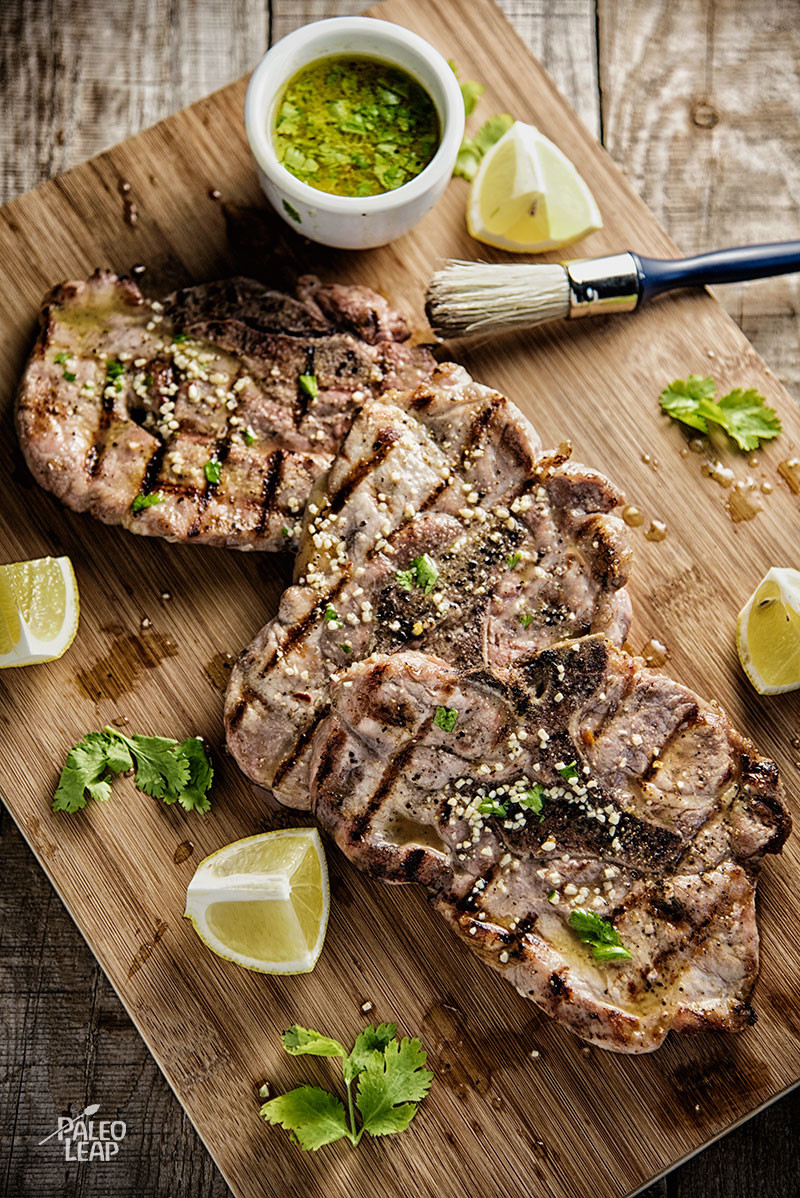 Pork Chops With Lemon-Cilantro Vinaigrette