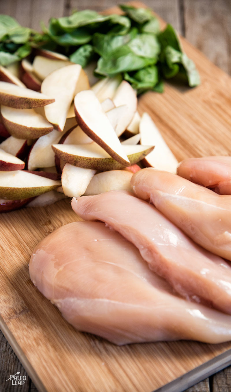 Chicken and pears preparation