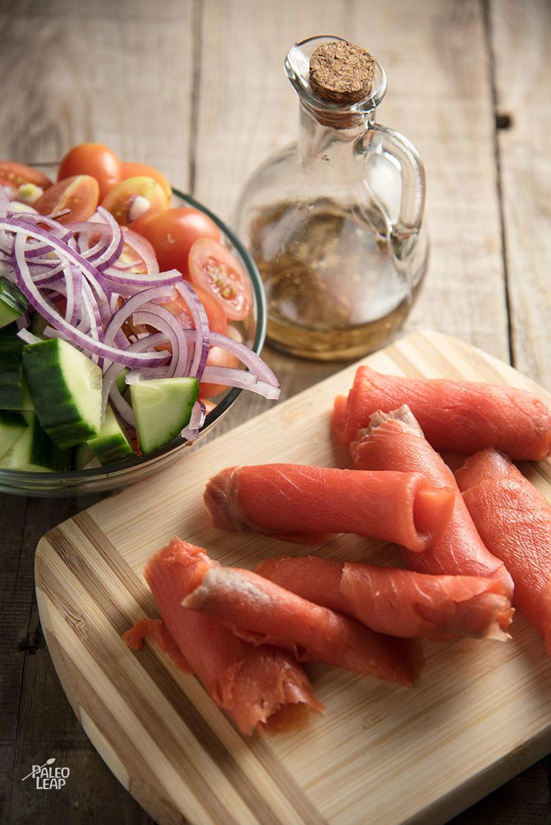 Smoked Salmon preparation