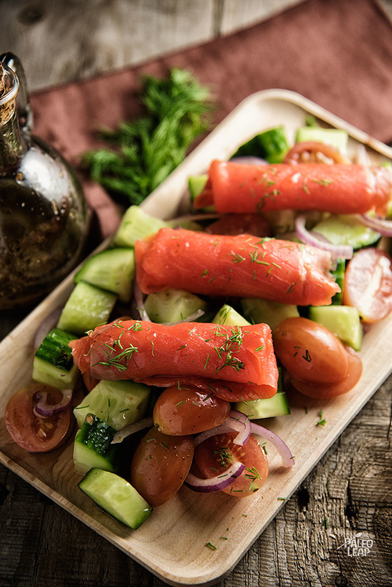 Smoked Salmon With Fresh Vegetables