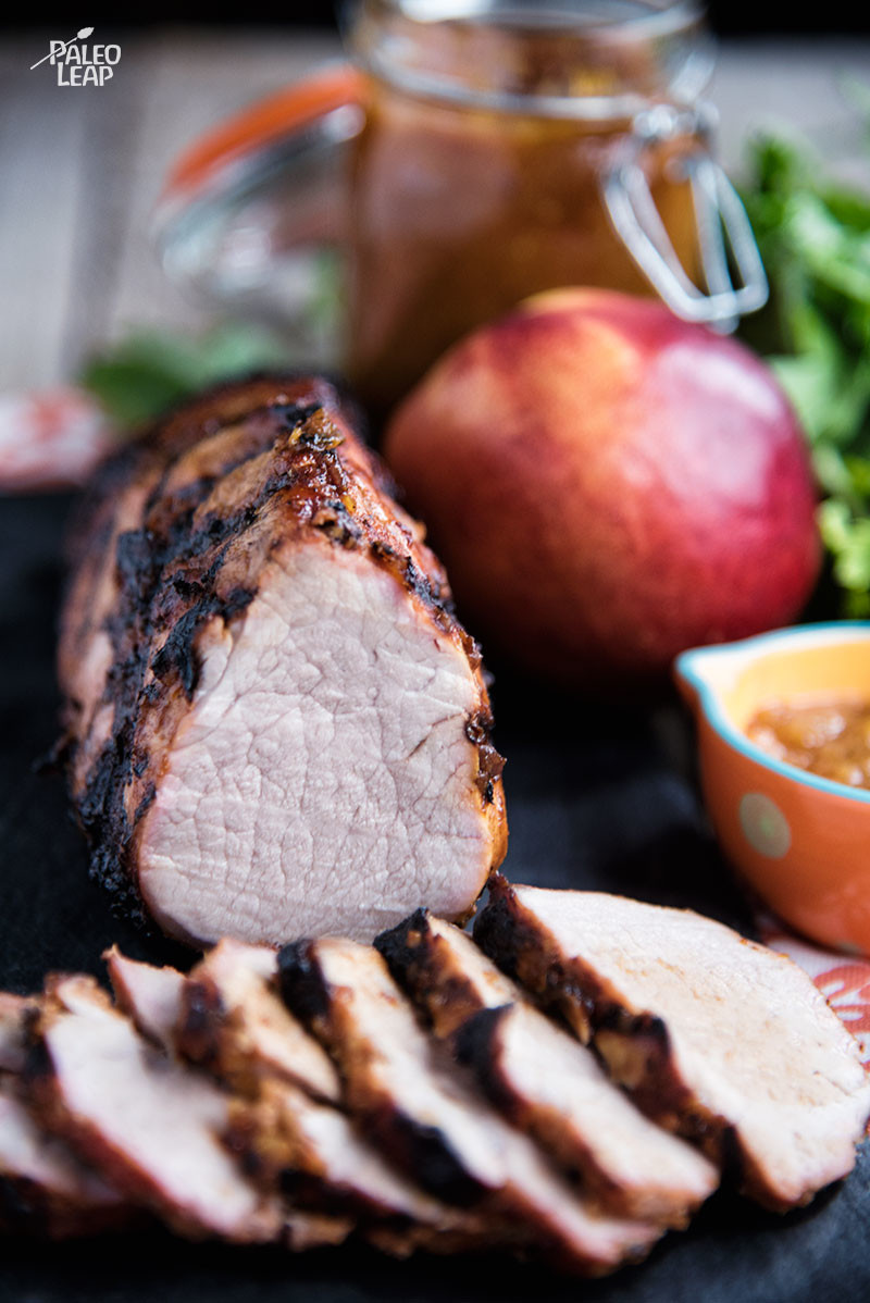Pork Tenderloin With BBQ Peach Sauce