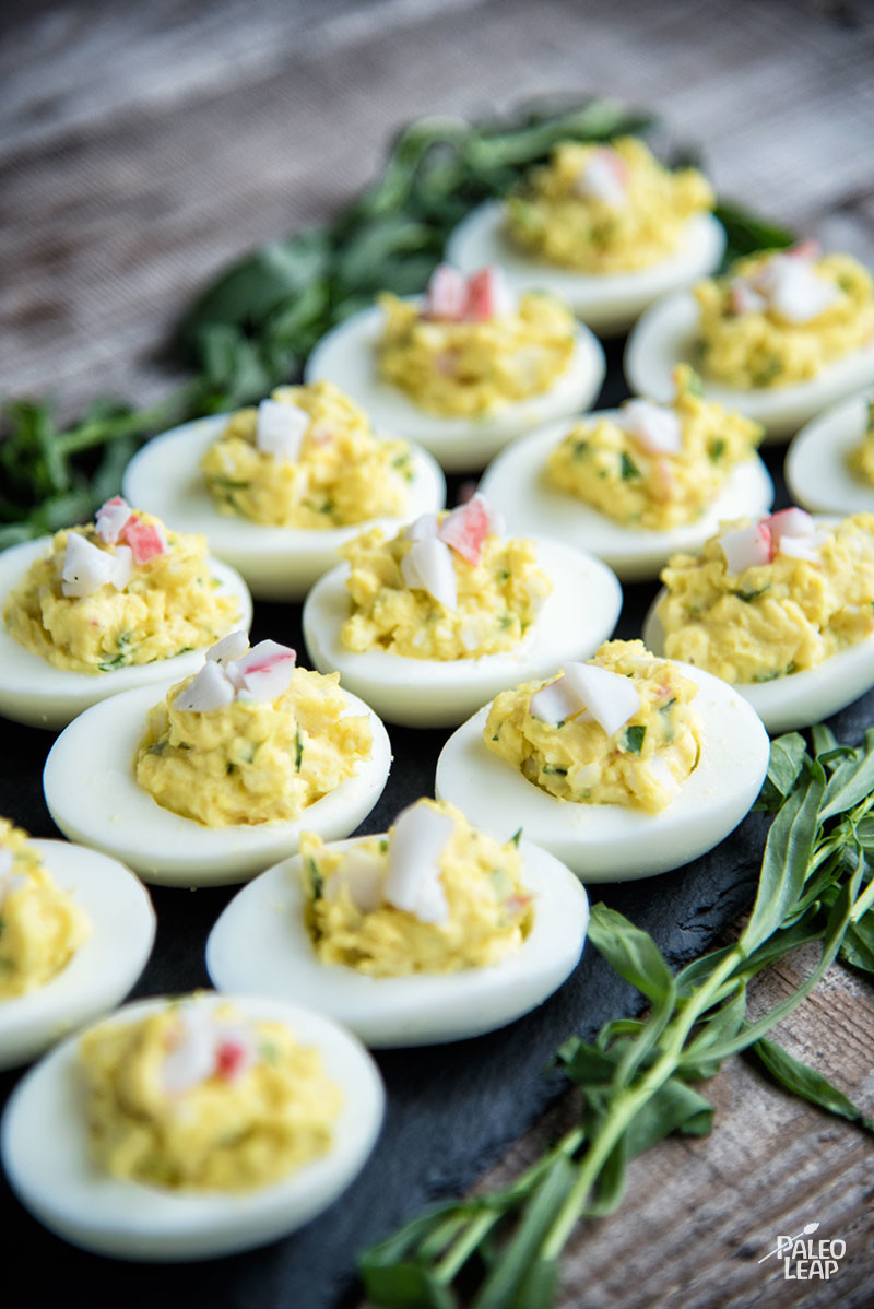 Crab-Stuffed Deviled Eggs With Tarragon