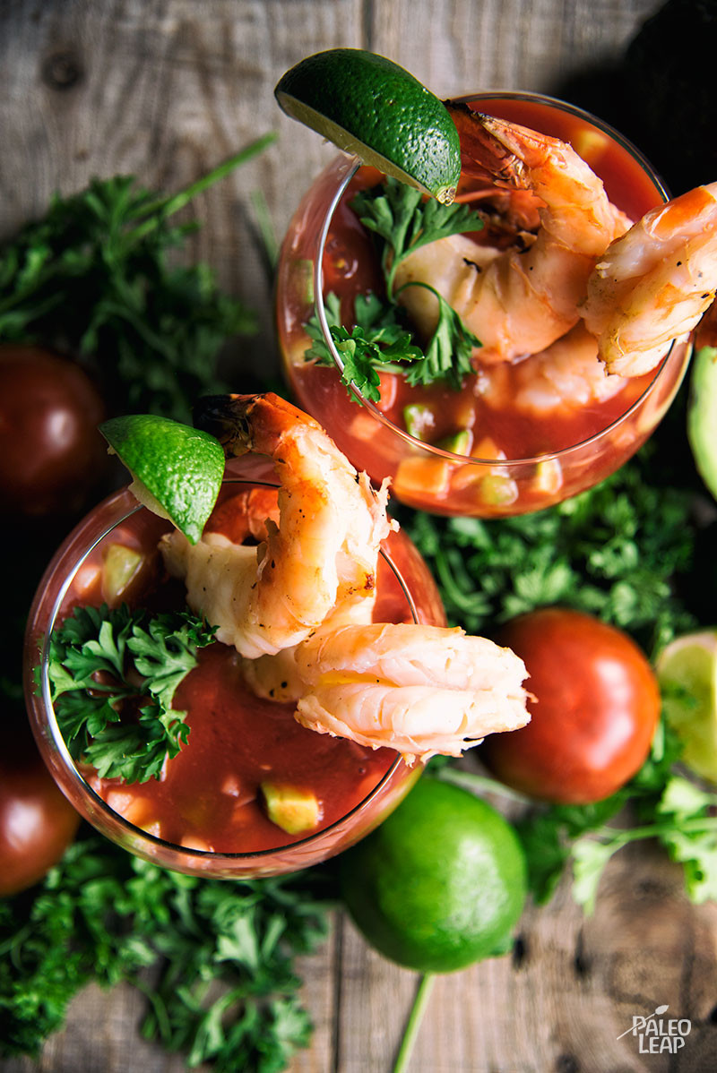 Shrimp And Gazpacho Bowls