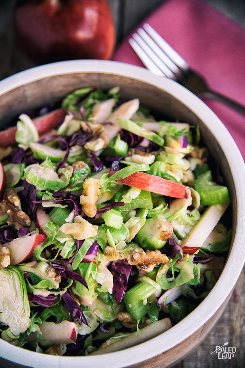 Brussels Sprout And cabbage Salad