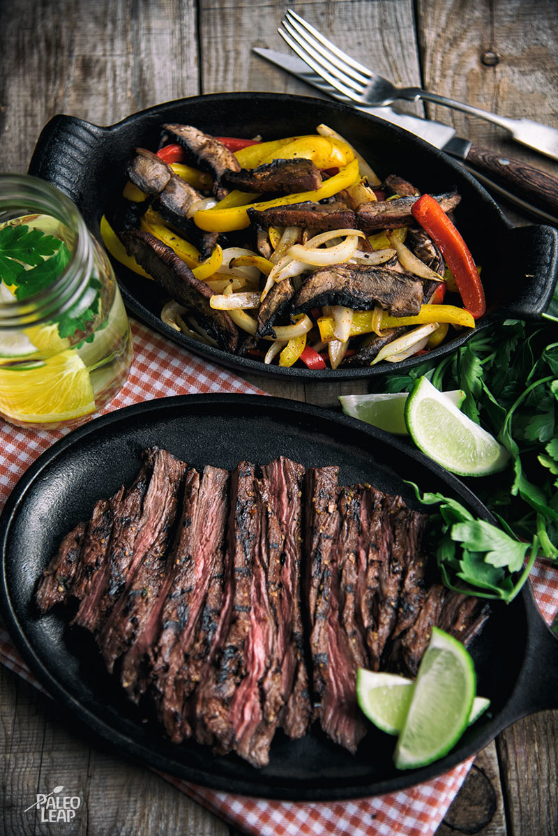 Carne Asada with Portobello And Bell Pepper